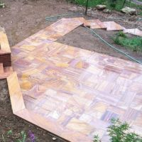 Rainbow Honed Sandstone Tiles